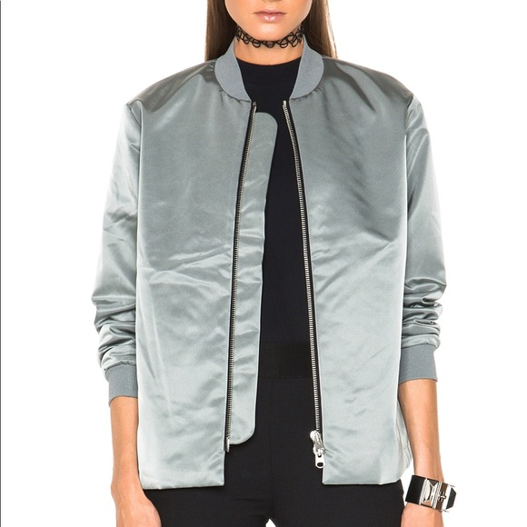 3c9571511 Acne fuel bomber jacket in silver size 34